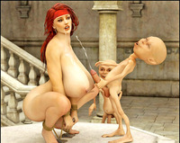 redhead sex pics dmonstersex scj galleries busty redhead slave tied getting facial gnomes