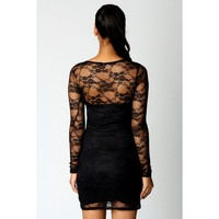 sexy black ladies photos data clubwear sexy womens ladies black floral lace long sleeve bodycon dress