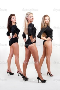 sexy black ladies photos depositphotos group three sexy ladies black body suits heels stock photo