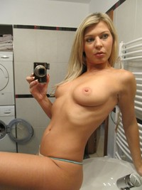 sexy blond galleries blonde selfshots nude sexy boobs may
