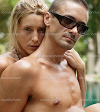 sexy exotic pic depositphotos sexy young couple hugging lounging edge exotic swimming pool stock photo