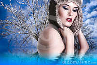 sexy naked woman pics sexy naked woman winter hat stock