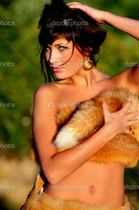 sexy naked woman pics depositphotos sexy naked woman fur stock photo