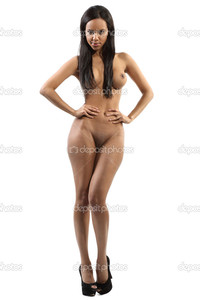 sexy nude black woman depositphotos beautiful dark nude woman posing white background stock photo