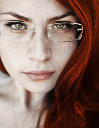 sexy red head girl pics meh glasses