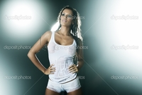 sexy wet panties pic depositphotos sexy wet woman wearing white tank panties stock photo