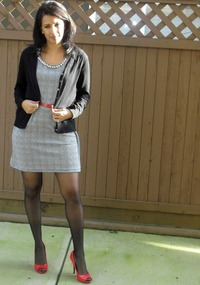 sexy women nylons very sexy woman plaid dress black nylons pantyhose red open toe heels united states are women who wear high more attractive question