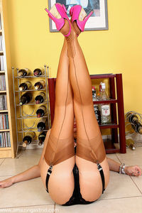 sexy women nylons ava tan seamed stockings long legs