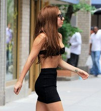 short skirt sexy pics gallery lady gaga looks sexy wearing bra tight short skirt out nyc