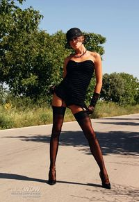 short skirts hot leggy road whore sexy black vintage stockings too short skirt