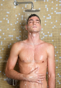 shower nude pic depositphotos young handsome sexy nude man shower stock photo