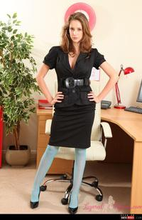 stockings office porn wmimg tits office secretary stockings teasing topless yourdailygirls