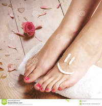 the sexy feet pics sexy female feet white towel petals floor spa compositions plenty different flowers taken wooden royalty free stock photos