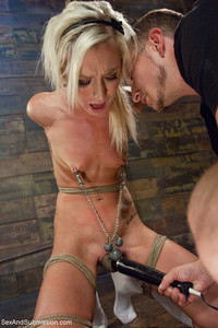 tiny tits sex pics pictures bdsm submission blonde tiny tits using nipple clamps