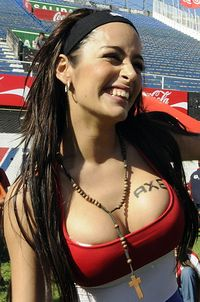 world big boobs pics larissa riquelme boobs was sponsored axe last week xonporn world cup