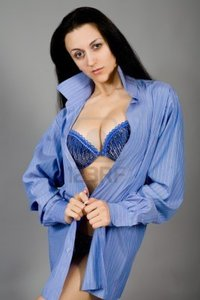 young big breast pics nikart young girl dark blue linen breast photo