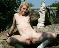 young wet cunt pics original young bare woman outdoor shows pussy slut