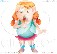 free pictures of fat girls cartoon fat girl eating ice cream royalty free vector clipart portfolio colematt illustration