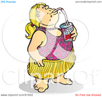 free pictures of fat girls royalty free clipart illustration fat girl bathing suit sipping soda portfolio alansnowling