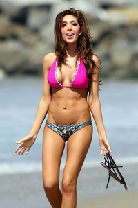 porn pink images farrah abraham pink bejeweled bikini photo beach los angeles