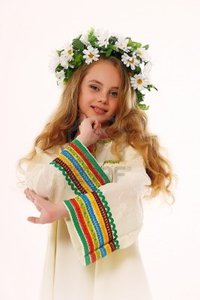 russian girl pictures evdoha beautiful russian girl wreath photo